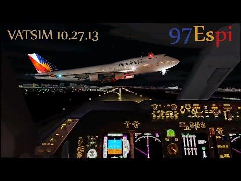 FS9/FSX VATSIM Full Flight + ATC Manila to Mactan 10.27.13  Philippine Airlines B744