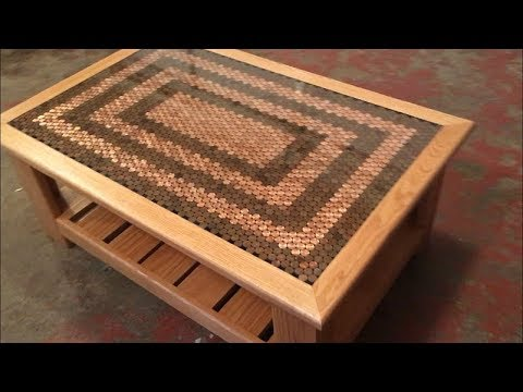 How To Make a Penny Table - YouTube