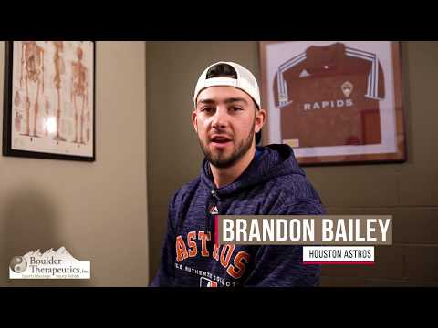 Boulder Therapeutics Sports Massage Therapy testimonial with Brandon Bailey, Houston Astros baseball