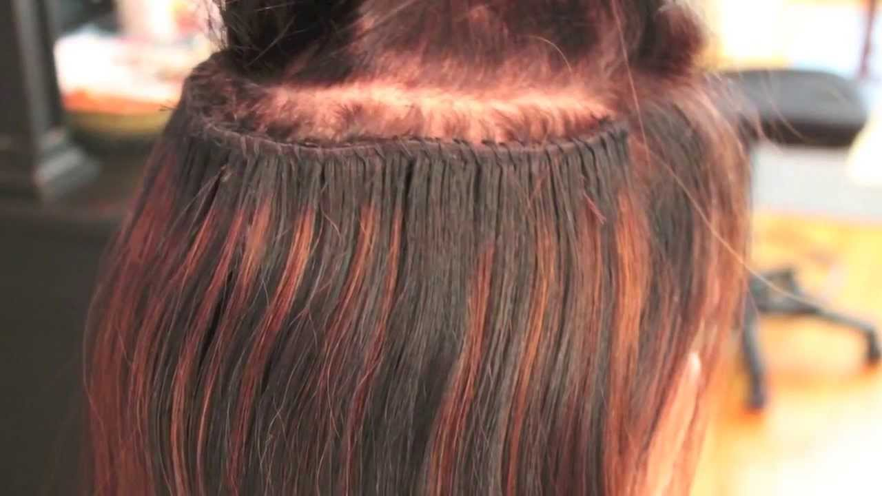 Caucasian track extensions braided sew in method youtube pmusecretfo Images