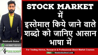 Top 20 words & terms used in stock market