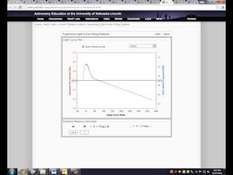 PHY1114 -- Module 11 lab activity (Cosmic Distance Ladder) video tutorial -- Pt. III