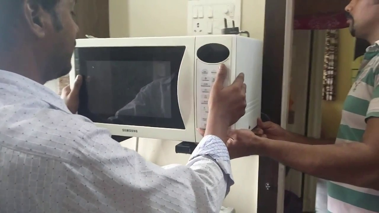 how to install microwave oven stand