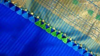 Beads simple kuchu design/ Silk saree kuchu design