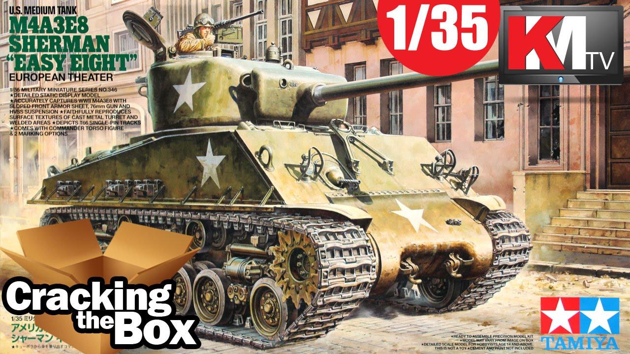 TAMIYA # 35346 1/35 U S  Medium Tank M4A3E8 Sherman Easy