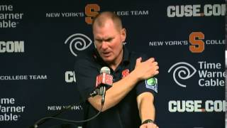 Scott Shafer Press Conference After Loss vs. Notre Dame - Syracuse Football