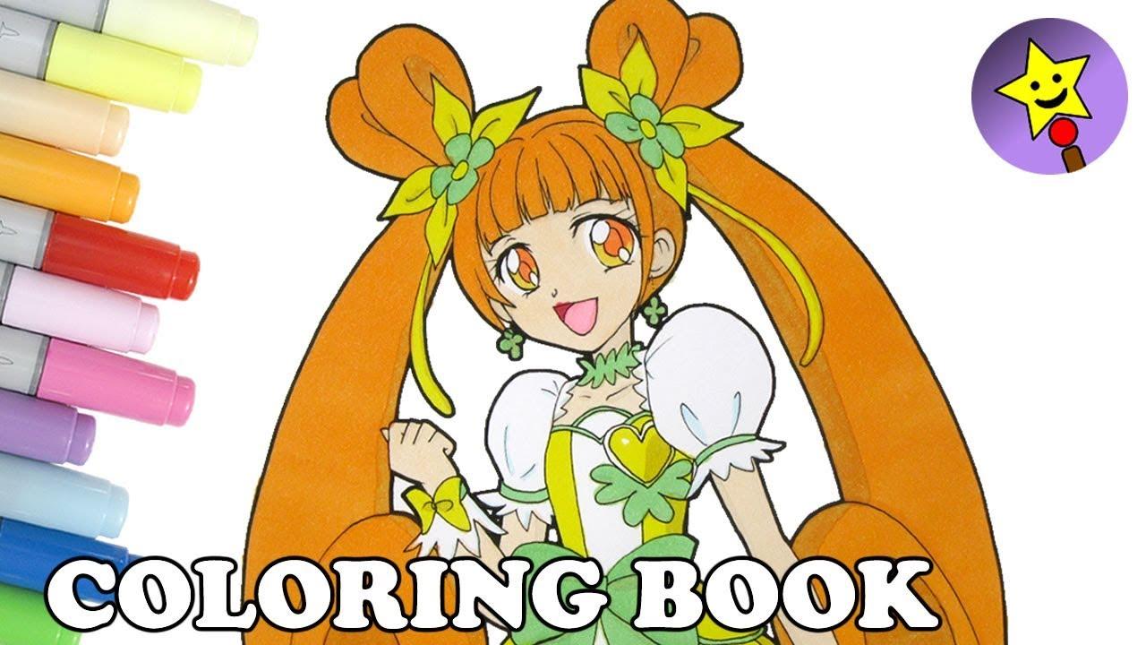 Glitter Force Doki Doki Glitter Clover Coloring Book Page