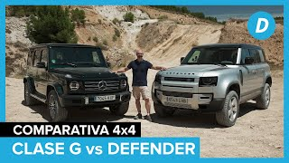 Comparativa 4x4 ¡al límite!: Land Rover Defender vs Mercedes Clase G | Prueba off road | Diariomotor