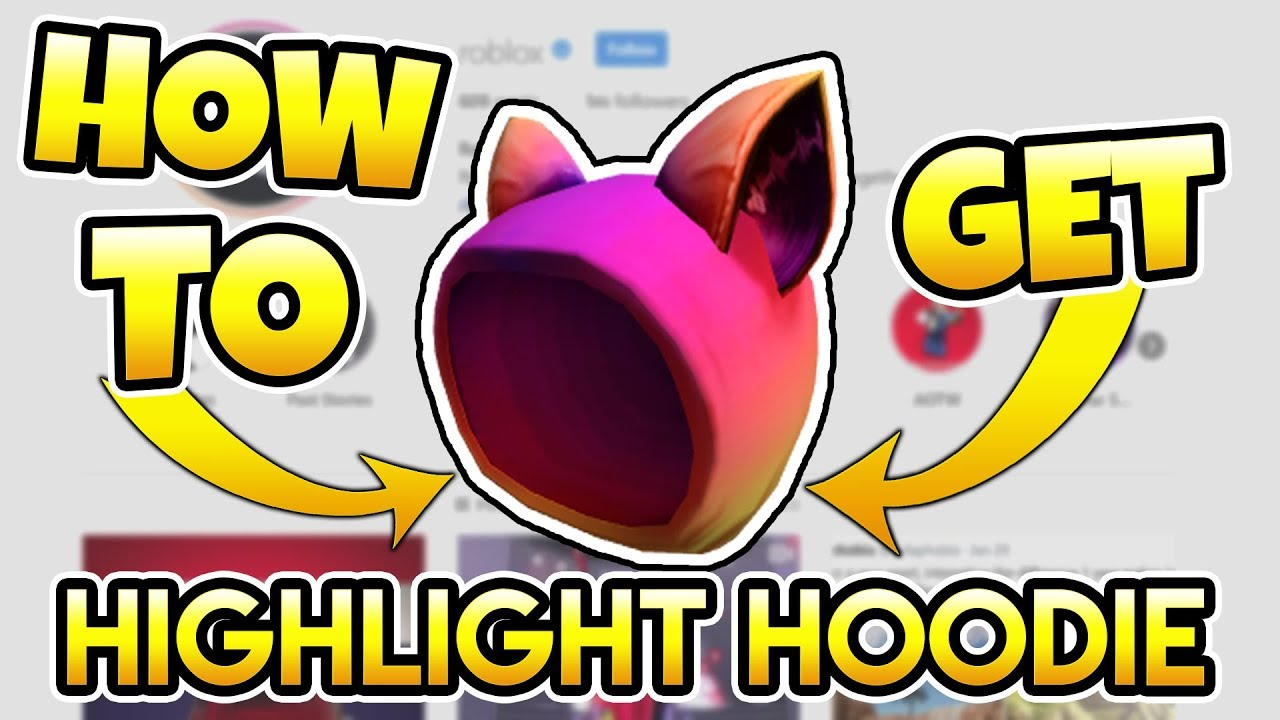 How To Get Hightlight Hoodie New Promocode Roblox Youtube