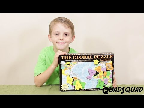 Learn Geography and Countries of the World with this Fun Puzzle - with Justin