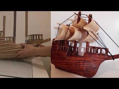 Пиратский Корабль из Картона и Бумаги DIY Pirate Ship using Paper and Cardboard🧟🧟