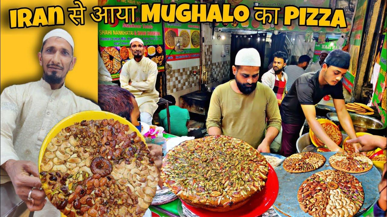 Download Mughalo का Dry fruit Pizza | Jama Masjid का Shahi Sheermal | Street Food India