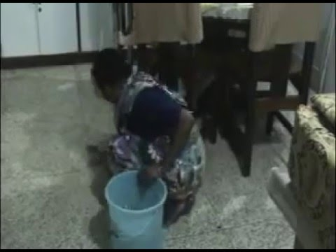 How woman cleaning floor.
