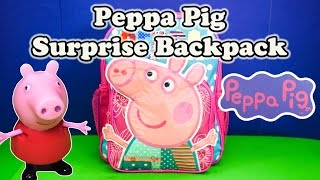 PEPPA PIG Nickelodeon Peppa Pig Surprise Backpack a Peppa Pig Surprise Egg Video