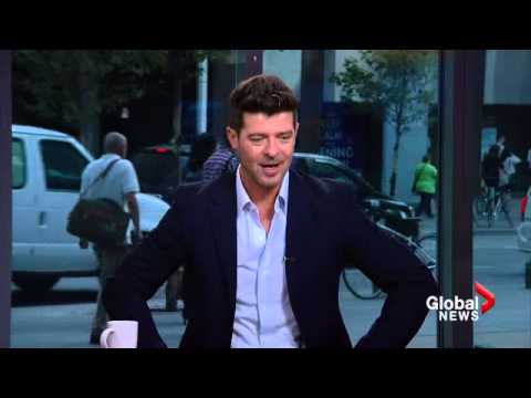 Robin Thicke impersonates his dad