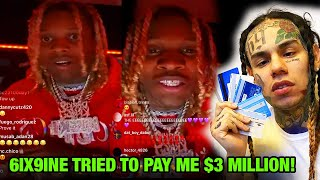 """6ix9ine EXPOSED by Lil Durk """"He Tried to Pay me $3 Million!"""""""