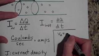 Current, Drift Velocity, and Current Density