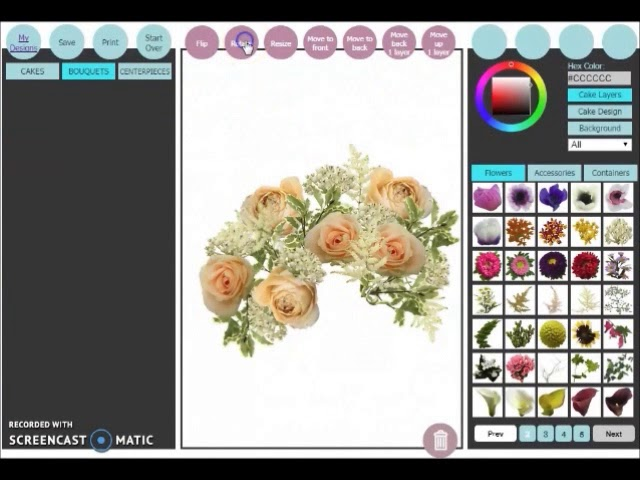 Design by the Blossom - virtual floral design program
