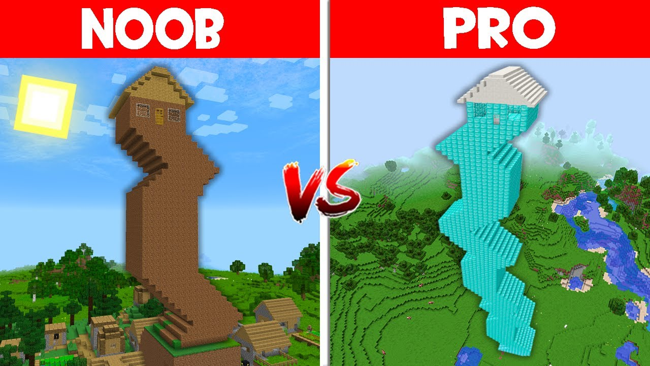 Minecraft NOOB vs PRO: WHO BUILT THE UGLIEST SKYSCRAPER IN THIS VILLAGE?!  (Animation)
