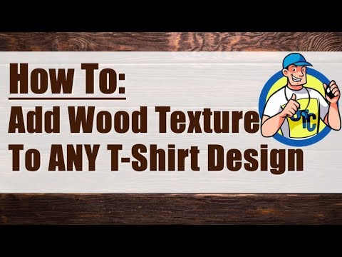 How to Add A Wood Grain Texture to ANY T-Shirt Design in GIMP!