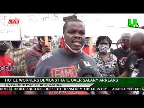 La Palm Royal Beach: Hotel Workers Demonstrate Over Salary Arrears