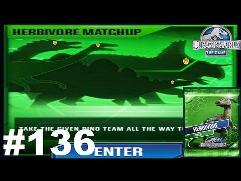 Jurassic World The Game Episode 136 Herbivore Matchup Vs Indominus Rex Dinosaur Gameplay Walkthrough