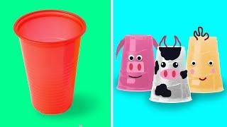 что можно сделать из пластиковых стаканчиков