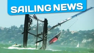 America's Cup: Russell Coutts on AC45 Oracle capsizes spectacularly in San Francisco