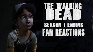 Fan Reactions - The Walking Dead: No Time Left - Lee & Clementine (End of Season 1 Scene)