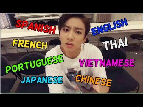 KPOP artists singing in different languages
