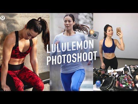 BEHIND THE SCENES LULULEMON PHOTOSHOOT | HOTEL WORKOUT thumbnail