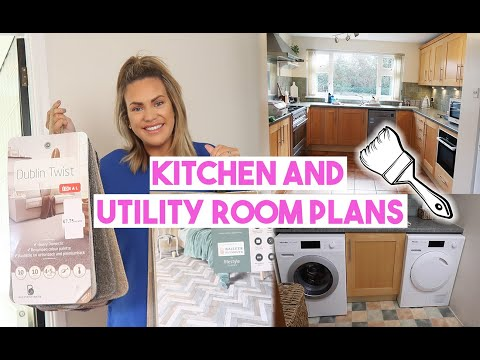 KITCHEN AND UTILITY ROOM MAKEOVER PLANS ON A BUDGET