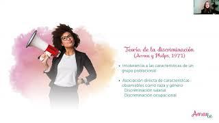 Amarte:  el Techo de Cristal Observado a través de la economia femenina.