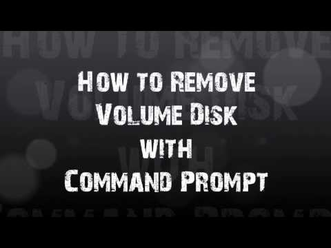How to Remove Volume Disk with CMD
