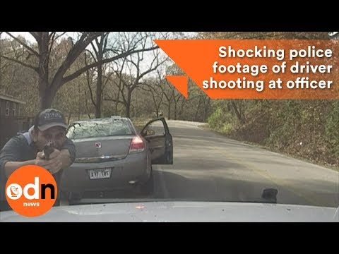 Shocking police footage of driver shooting at officer