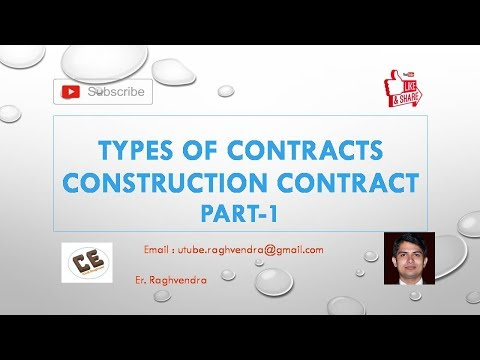 Types of Contract | Construction Contract | Part -1 | Er. Raghvendra
