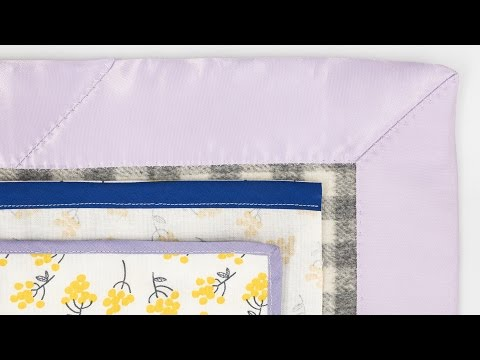 How to Sew With Bias Tape - Single Fold - Double Fold - Blanket Binding
