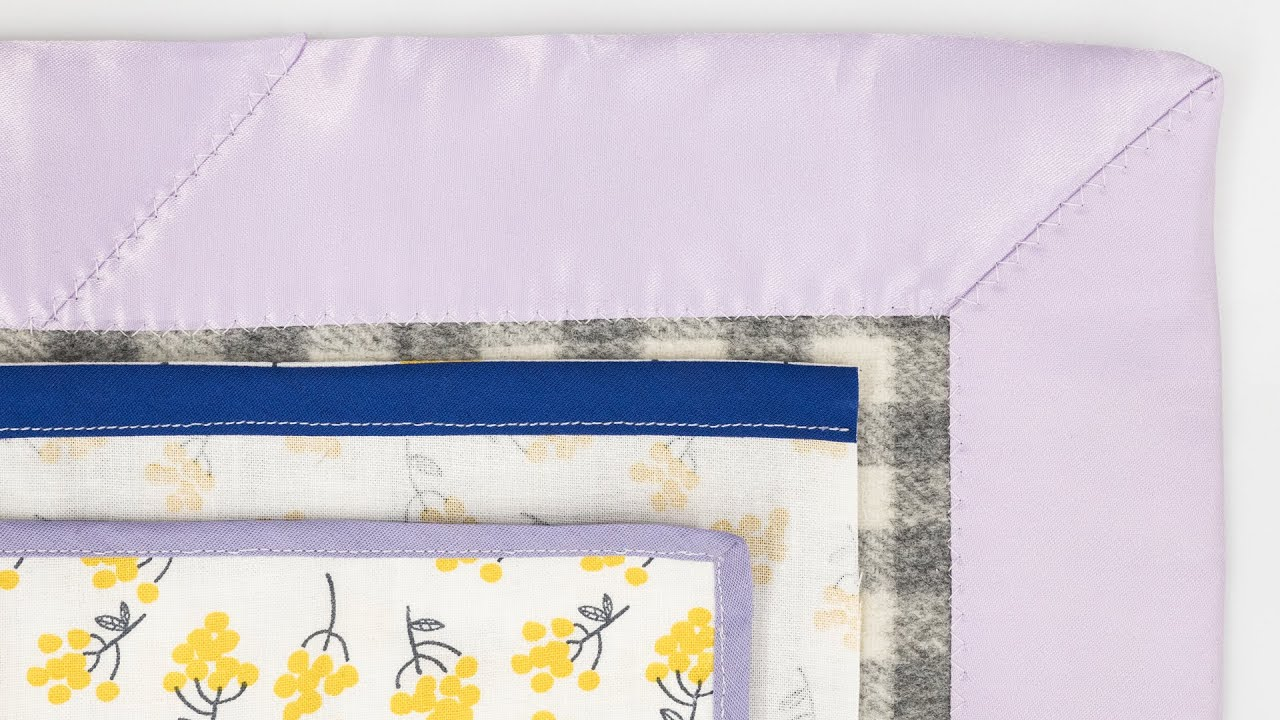 How to make a quilt binding on the bias
