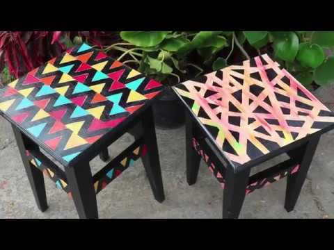 Furniture Makeover On A Budget ||Amazing Home Decor || DIY Painting Wooden Stools