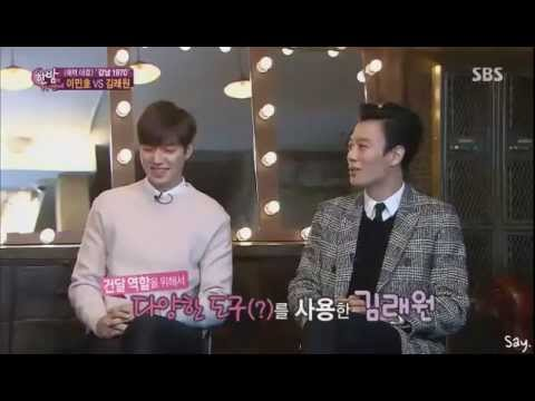 """[20150114] Lee Min Ho and Kim RaeWon- SBS Night of Entertainment """"Gangnam 1970"""" Casts Interview"""