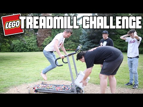 Lego Treadmill Challenge (Running On Lego) | WheresMyChallenge