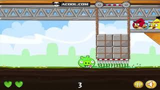 CRUSH BAD PIGGIE!! 3 ANGRY BIRDS TRAP ALL PIGGIES!