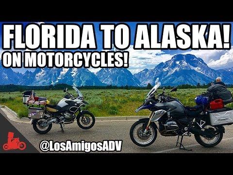 Florida to ALASKA Motorcycle Trip! - LosAmigosADV! - BMW GS