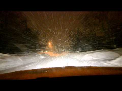 DRIVING IN ROCKLAND AT NIGHT IN A SNOWSTORM  #1
