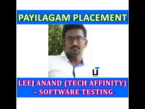 Payilagam Placement - Leej Anand (TechAffinity) - Software Testing Training In Chennai