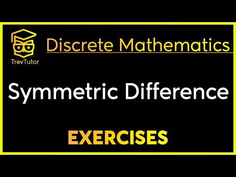 [Discrete Math 1] Symmetric Difference Example