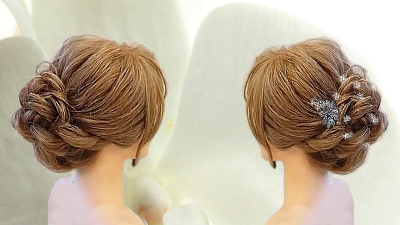 bridesmaid hairstyles. braided updo hairstyles. wedding, prom