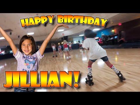 ROLLER SKATE BIRTHDAY!!! Jillian's 8th Birthday Party!