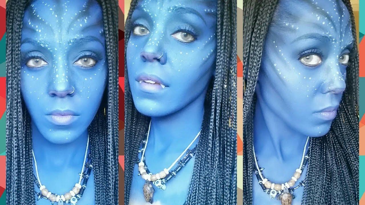 Na'vi Makeup Tutorial - Avatar Cosplay on Dark Skin