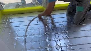 ➡️ Монтаж сухого теплого пола AlfaMix Basic ➡️ толщина 30 мм ➡️ труба металлопластиковая 16х2.0 мм